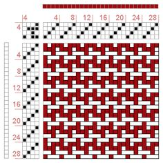 Hand Weaving Draft: Figure 1349, A Handbook of Weaves by G. H. Oelsner, 4S, 4T - Handweaving.net Hand Weaving and Draft Archive