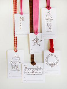 christmas tags - printable
