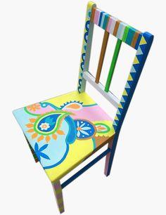 Stuhl Jugendstil handbemalt
