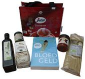 Cadeautas van Italian Coffee Handbags inclusief de Literaire Thriller Bloedgeld van Edward Hendriks