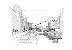 The Studio was commissioned to design a scheme for a high-profile London hotel. Each space – including restaurant, library, lounge and bar – has been given Studio Toogood's distinctive stamp.
