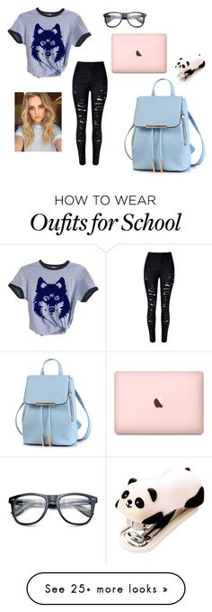 """""""School..."""" by fashion-unicorn-003 on Polyvore featuring WithChic"""