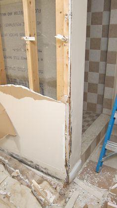 Bathroom Remodel Demolition Cost start of demolition. had existing fiberglass shower surround and