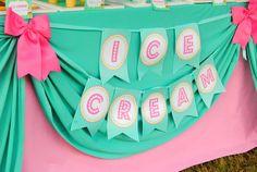 Ice Cream Party - ICE CREAM Printables - Ice Cream - Sweet Shop - Ice Cream Shoppe - ICE CREAM Birthday - First Birthday - ICECREAM Banner