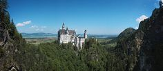 Neuschwanstein Castle Bavaria Germany Panorama by TheWorldExplored, $25.00