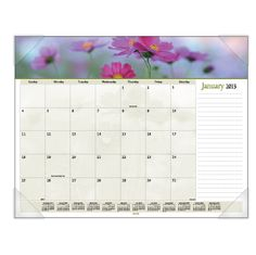 AT-A-GLANCE® Recycled Floral Panoramic Monthly Desk Pad (Item # 89805)