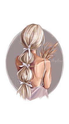 Cute Girl Drawing, Cartoon Girl Drawing, Girly Drawings, Cute Girl Wallpaper, Fashion Wall Art, Digital Art Girl, Fashion Design Sketches, Cute Art, Illustration Art