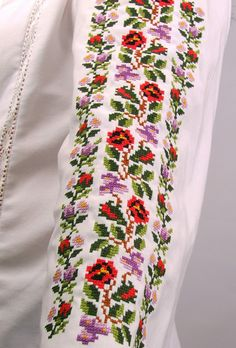Cross Stitch Rose, Diy Flowers, Floral Tie, Hand Embroidery, Cross Stitch Patterns, Handmade, Fashion, Cross Stitch, Vintage Embroidery Patterns