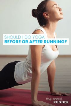 All runners should work on their flexibility and mobility. Being more flexible can help to prevent injuries and improve your performance. Yoga is an excellent way to improve your flexibility and is a worthwhile form of exercise for runners to add to their routines. You may be wondering, should I do yoga before or after […] Interval Cardio, Cardio Routine, Hiit, Beginners Cardio, Running For Beginners, Running Workouts, Running Tips, Training Plan, Strength Training