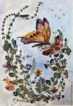 Картины цветов ручной работы. Ярмарка Мастеров - ручная работа. Купить Картина-ошибана Бабочка. Handmade. Комбинированный, разноцветный, лето