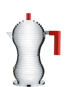 Alessi Pulcina Espresso Coffee Maker Moka for the new millennium. Fifteen years of research went into the design of the Alessi Pulcina Espresso Coffee Maker, in partnership with Italian coffee company Illy. The result is a form tha. Best Espresso Machine, Espresso Maker, Espresso Coffee, Coffee Cafe, Coffee Shop, Coffee Lovers, Italian Espresso, Coffe Maker, Desert Recipes