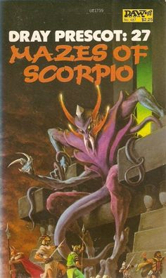 487 	Alan Burt Akers 	Mazes of Scorpio 	Richard Hescox 	Jun-82 	a.k.a. Kenneth Bulmer. Dray Prescott #27.