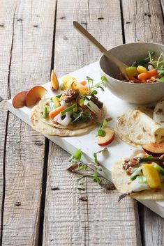 Sweet and Sticky Duck and Vegetable Pancakes via @crushonlinemag