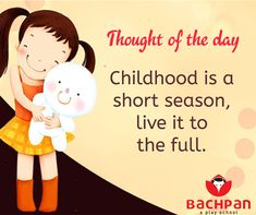 BACHPAN Thought Of The Day.. #thoughts #thoughtsandprayers #thoughtoftheday #thursdaythoughts #bachpan #bachpananmolhai Happy Children's Day, Child Day, Thought Of The Day, Mantra, Card Ideas, Bb, Celebration, Prayers, Childhood