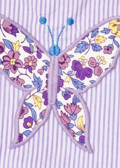 Applique Swim Suit - Butterfly
