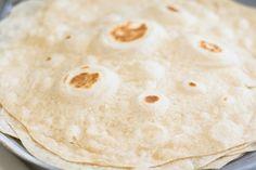 Homemade Flour Tortilla Recipe - Thrift and Spice Recipes With Flour Tortillas, Homemade Flour Tortillas, Authentic Enchilada Sauce, Tortilla Recipe, Enchiladas, Thrift, Spices, Cooking Recipes, Dinner