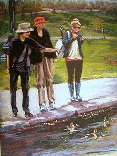 pastel paintings, portraits, fine art, ducks, Boston Gardens, figure work, parks, artists