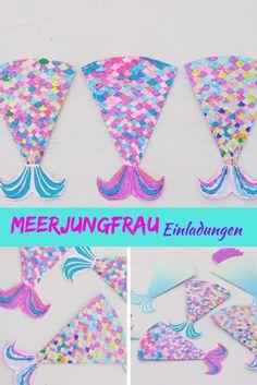 Meerjungfrau Einladung – Invitation Ideas for 2020 Mermaid Invitations, Birthday Invitations Kids, Party Invitations, Art For Kids, Crafts For Kids, Summer Nails, Deco, Pin Collection, Cool Kids