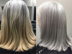 COLOR CORRECTION: Matching Natural Silver Hair - Hair Color - Modern Salon