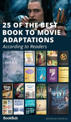 Readers reveal the 25 book to movie adaptations they could watch over and over! Book Nerd, Book Club Books, Book Lists, Good Books, The Book, Books To Read, Ya Books, Reading Lists, Books That Are Movies