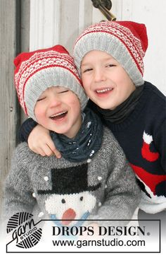 Children - Free knitting patterns and crochet patterns by DROPS Design Knitting Patterns Free, Free Knitting, Crochet Patterns, Drops Design, Magazine Drops, Knit Crochet, Crochet Hats, Double Trouble, Mittens
