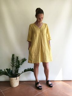 Linen Tunic Plus size tunic Linen Dress for Women by linenbees