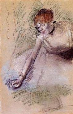 Bowing Dancer - Edgar Degas   Start Date: c.1880 Completion Date:c.1885