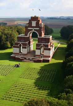 Thiepval Memorial – The Somme, France Strange today watching the Remembrance… World War One, First World, Somme France, Commonwealth, Battle Of The Somme, Beauvais, Flanders Field, Amiens, Temples