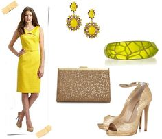 Spring Summer Wedding Guest Accessories 07 (nice gold shoes - dress too neon for my taste)
