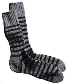 Two Tone Socks knit pattern from Sweaters for Men & Boys, originally published by Jack Frost, Volume No. 40, from 1947.