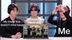 Funny Kpop Memes, Kid Memes, Funny Relatable Memes, Bts Pictures, Reaction Pictures, Steven Universe, Haha, Text Memes, Pop Bands