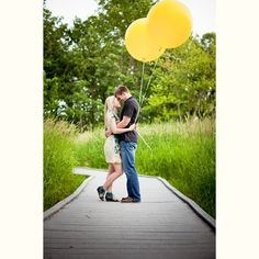 "Anniversary Photo Idea....add little balloon for expected baby. ""10.3 and parents to be"""