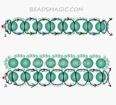 Free pattern for necklace Minty | Beads Magic