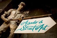 Asado and street art