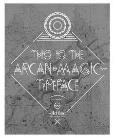 Arcan Magic Type #design #typography #font #graphic_design #poster #eyeli
