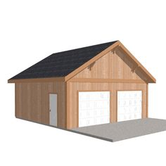This Barn Pros Workshop Engineered Permit-Ready Wood Garage Package is the ideal building for vehicle parking and storage. Carport Garage, Garage Kits, Garage Plans, Detached Garage, Garage Ideas, 10x12 Shed Plans, Free Shed Plans, Garage Packages, Bed Frame Plans