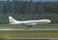 """""""Eskil Viking"""" just before touchdown on RWY 08 - Photo taken at Stockholm - Arlanda (ARN / ESSA) in Sweden in July, Sud Aviation, Air Festival, World Pictures, Aircraft Design, Photo Search, Cabin Design, Air France, Concorde, Vintage Posters"""