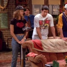 "Excellent mum jeans | 20 Things Rachel Wore In ""Friends"" That You'd Definitely Wear Now"