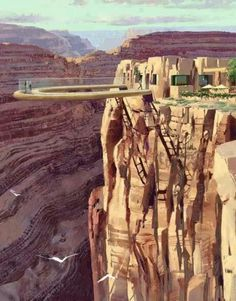 Glass bottom sky walk, South Rim, Grand Canyon.