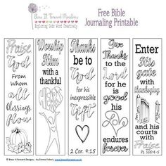 Bless It Forward Ministries - Free Printables Scripture Study, Bible Art, Bible Quotes, Bible Journaling For Beginners, Art Journaling, Journal Art, Journal Ideas, Bullet Journal, Free Christian Books