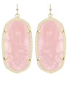 Kendra scott earrings Rose quartz kendra scott danielle earrings with gold metal. Wore once for wedding, in great condition and kendra scott bag included. Gold Statement Earrings, Pink Earrings, Dangle Earrings, Diamond Earrings, Kendra Scott Danielle Earrings, Kendra Scott Jewelry, Pink Jewelry, Jewelry Box, Jewelry Ideas