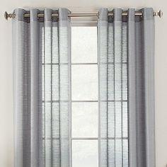 Knox Grommet Semi-Sheer Window Curtain Panels