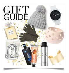 """Gift guide: last minute gifts"" by helenax26 ❤ liked on Polyvore featuring interior, interiors, interior design, home, home decor, interior decorating, Chanel, Nixon, Diptyque and Barbour"