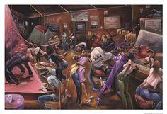 Lenny'S Lounge by Frank Morrison art print