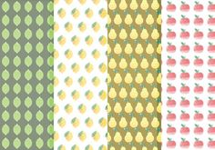 Vector Citrus and Fruit Pattern Set -   Grab this free set of patterns, in both AI and EPS format. Hope you enjoy it!  - https://www.welovesolo.com/vector-citrus-and-fruit-pattern-set/?utm_source=PN&utm_medium=weloveso80%40gmail.com&utm_campaign=SNAP%2Bfrom%2BWeLoveSoLo