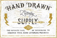 Hand Drawn Lettering Supply Kit ~ Objects on Creative Market
