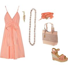 """""""Delicate Coral http://carolyn.mialisia.com/"""" by carolyn-keeler-woodburn on Polyvore"""