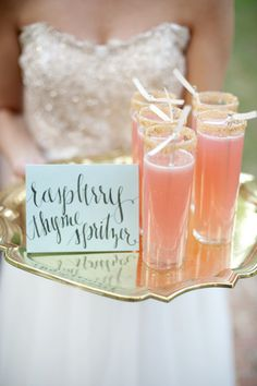How refreshing do these wedding #cocktails look? @GLWEvents