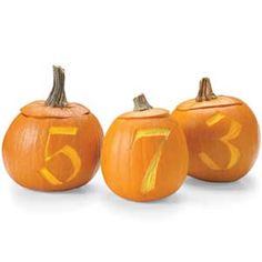 Put your house number in pumpkins