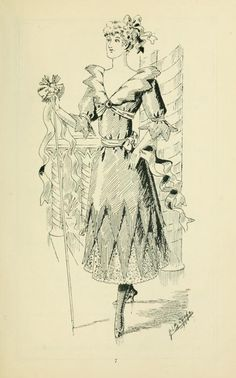 "Christmas Crackers from ""Thirty original sketches for fancy costumes"" 1894"
